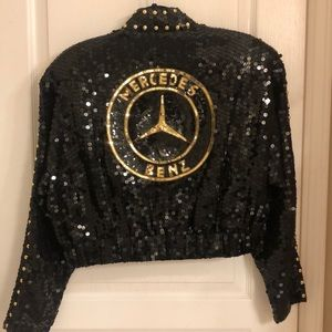 Other - Mercedes Sequined Crop Jacket